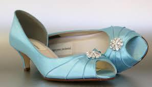 wedding shoes kitten heel blue wedding shoes pool blue kitten heels with simple