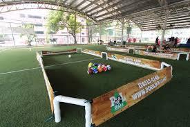 life size pool table poolball team bonding singapore