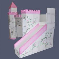 girls castle bed leeds castle bunk bed right side view hand painted w optional
