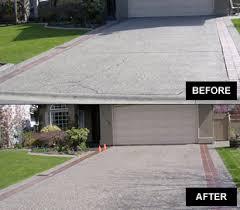Repair Concrete Patio Cracks Concrete Repair Langley Bc Before And After Repair Cracked