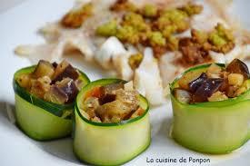 recettes de cuisine simple pour tous les jours fondue d aubergine encerclée d une tranche de courgette la