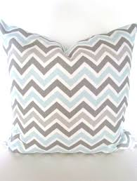 light blue accent pillows pillow covers grey 18x18 chevron decorative by sayitwithpillows