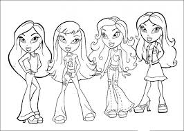 20 Free Printable Bratz Coloring Pages Everfreecoloring Com Bratz Coloring Pages