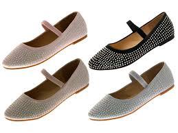boots sale uk ebay satin diamante ballet pumps childrens flat shoes