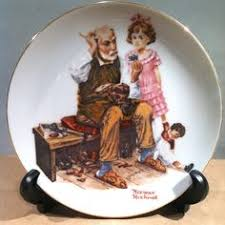 gorham china norman rockwell plate a scholarly pace yardsale