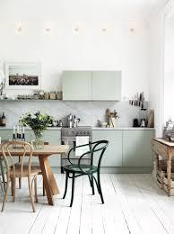 retro cottage scandinavian kitchen style design with mint kitchen
