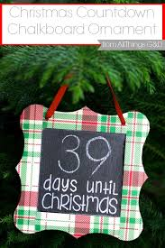 countdown chalkboard ornament all things g d