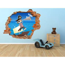 dessin mural chambre fille grand sticker 110x90 cm pirate dessin mural 3d chambre enfant