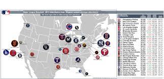 Royals Stadium Map Baseball U003epaid Attendance Billsportsmaps Com