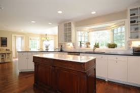 Traditional Kitchens With White Cabinets - traditional kitchen with glass panel u0026 flush in new canaan ct