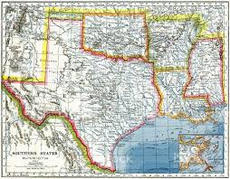 map of usa showing southern states map of the southern states map of the middle states and part of