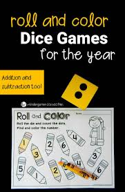 roll and color dice games for the year the kindergarten connection