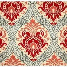 red damask florals home decor upholstery fabric fabric traders