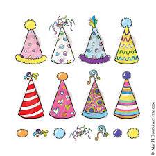 birthday hats party hats clipart whimsy birthday new years diy