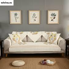 non slip cover for leather sofa nordic owl cotton embroidered sofa mats sofa cover combination