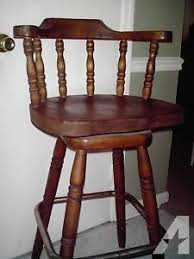 wooden bar stools with backs that swivel two 30 inch solid wood bar stools or pub chairs swivel top high