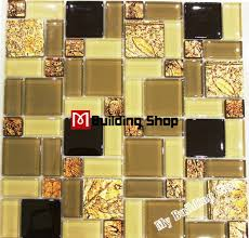 yellow gold glass mosaic wall tiles rnmt099 resin mosaic kitchen