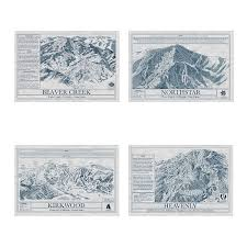 wall blueprints ski resort blueprints ski resort wall art uncommongoods