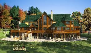 Log Cabin With Loft Floor Plans Golden Eagle Log And Timber Homes Floor Plan Details Acadia 6545al