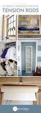 How To Organize Clothes Without A Closet 25 Crazy Creative Uses For Tension Rods One Good Thing By Jillee