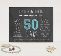 50 year anniversary gift items similar to 50th anniversary chalkboard gift 50 year