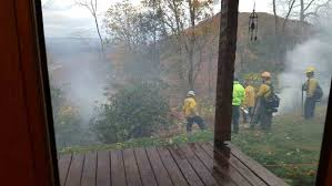 Wildfire Wedding Photos by Kingsport Times News Hawkins Forest Fire Contained Arson Suspected