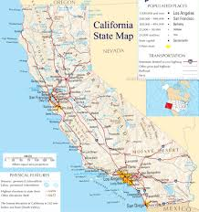 Ojai California Map California State Map A Large Detailed Map Of California State Usa