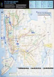 Mta New York Map by February 2005 Mta Nyc Subway Map Nyc 2012 Olympics Edition
