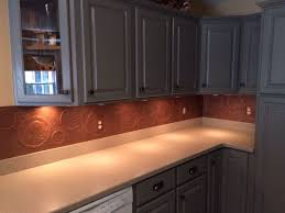 diy kitchen copper backsplash decoupage tierra este 44074