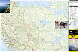 Map Canada by Canada West National Geographic Adventure Map National