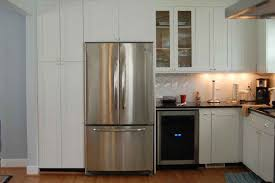 Kitchen Aid Cabinets by White Kitchen Cabinet And Kitchenaid Refrigerator Inside