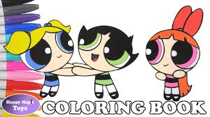 the powerpuff girls coloring book pages blossom bubbles buttercup