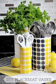 Tin Vases Diy Project Placemat Vases The 36th Avenue