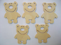 a set of 5 shape bear wooden cutouts for craft projects die cuts