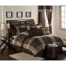 Brown Queen Size Comforter Sets Simple Mens Bed Comforterssimple Bedroom With Black Tan Bedding