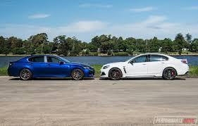 lexus rc f vs gs f 2017 hsv clubsport lsa vs lexus gs f v8 sedan comparison video