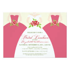 bridal luncheon bridesmaids luncheon invitations announcements zazzle