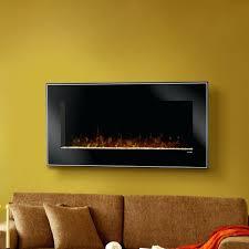 flat electric fireplace insert wall mounted heater log pebble set
