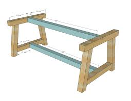 Diy Wood Desk Plans by Ana White Build A 4x4 Truss Beam Table Free And Easy Diy