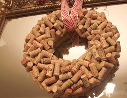 make a wine cork wreath for your holiday door live pretty