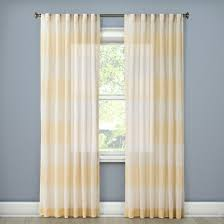 Gold Metallic Curtains Metallic Rugby Stripe Sheer Curtain Panel Gold Threshold Target