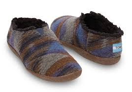 toms blue wool s slippers in blue for lyst
