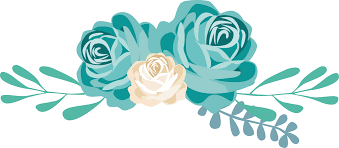 turquoise flowers flowers vectors png transparent free images png only