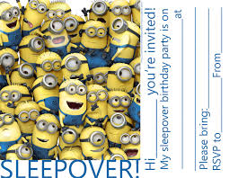 sleepover party invites invitations for sleepover party minions despicable me party
