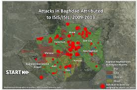 Baghdad Map Infographic Visualizing Isis Violence In Iraq And Syria War On