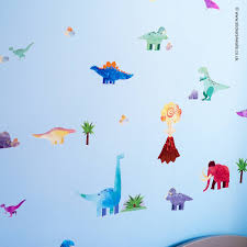 fabric wall stickers fabristick wall stickers dinosaur woolly mammoth wa