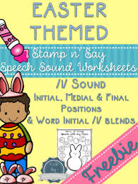 free easter speeches free easter themed speech sound worksheets l and l blends no prep