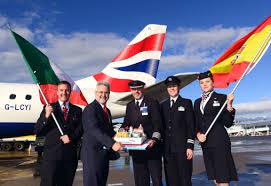 Florence Flag British Airways Flights Take Off From Birmingham Again