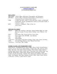 Dance Resume Template For College Dancer Resume Template Dancer Resume Template 6 Free Word Pdf
