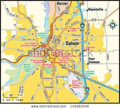 salem oregon area map stock vector 145981049